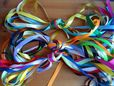 "12mm x 1m x 10 1/2"" satin ribbon Assorted colours 1 meter lengths UK SELLER"